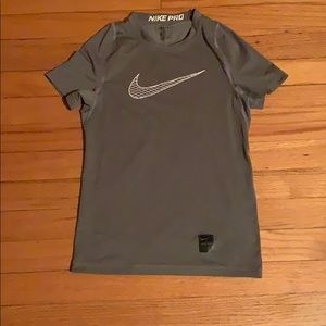 Nike dri fit work out sweat resistant pro t shirt
